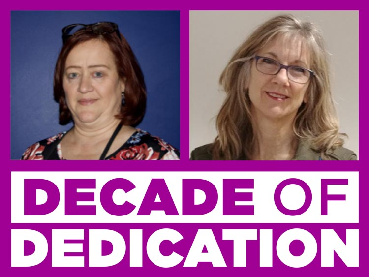 Visitor Services: Decade of Dedication with Patricia Faulds and Eva Cintron